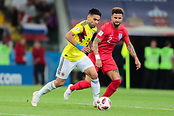 July 3, 2018 - Moscow, Russia - forward Radamel Falcao of Colombia National team and defender Kyle Walker of England National team during the round of 16 match between Colombia  and England at the FIFA World Cup 2018 at Spartak Stadium  in Moscow, Russia, Tuesday, July 3, 2018. (Credit Image: © Anatolij Medved/NurPhoto via ZUMA Press)