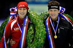 28-12-2010 SCHAATSEN: KPN NK ALLROUND EN SPRINT: HEERENVEEN<br /> Margot Boer en Stefan Groothuis worden Nederlands kampioen sprint<br /> ©2010-WWW.FOTOHOOGENDOORN.NL