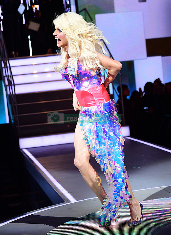 Courtney Act enters the house during the Celebrity Big Brother Men's Launch held at Elstree Studios in Borehamwood, Hertfordshire. PRESS ASSOCIATION Photo. Picture date: Friday January 5, 2018. See PA story SHOWBIZ CBB Housemates. Photo credit should read: Ian West/PA Wire