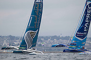 La Route des Princess. Plymouth. UK<br /> Pictures Oman Air - Musandam in action during the InPort race today, close to the city of Plymouth <br /> Credit: Lloyd Images