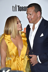 """File photo dated September 7, 2019 of Jennifer Lopez and Alex Rodriguez attend the """"Hustlers"""" premiere during the 2019 Toronto International Film Festival at Roy Thomson Hall in Toronto, Canada. Jennifer Lopez and Alex Rodriguez say they are better off as friends. The stars announced on Thursday that they are officially ending their two-year engagement. Photo by Lionel Hahn/ABACAPRESS.COM"""