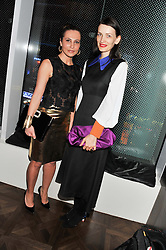 Left to right, ELLA KRASNER and ROKSANDA ILINCIC at W London - Leicester Square for the Liberatum Cultural Honour in Spice Market for John Hurt, CBE in association with artist Svetlana K-Lié on 10th April 2013.