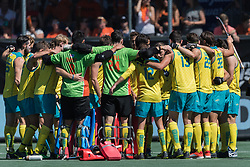 players of Australia at the start of the match during the Champions Trophy finale between the Australia and India on the fields of BH&BC Breda on Juli 1, 2018 in Breda, the Netherlands.
