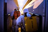 Odkażanie giełdy rolno-towarowej w Białymstoku w związku z epidemią koronawirusa