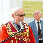 30.05. 2017.                                             <br /> Limerick Museum opened the doors to its new home at the former Franciscan Friary on Henry Street in the heart of Limerick city, dedicated to the memory of Jim Kemmy, the former Democratic Socialist Party and Labour Party TD for Limerick East and two-time Mayor of Limerick.<br /> <br /> Pictured at the opening of the new Museum was Mayor of Limerick Cllr. Kieran O'Hanlon.<br /> <br /> The museum will house one of the largest collections of any Irish museum. Picture: Alan Place