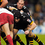 Wycombe. GREAT BRITAIN, 24th October 2004 <br /> Heineken Cup Rugby, London Wasps v Biarritz,  Adams Park, ENGLAND. Photo, Peter Spurrier/Intersport-images]<br /> Wasps Lawrence Dallaglio and Jonny O'Conner.<br /> ,