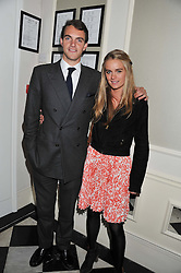 VISCOUNT ERLEIGH and CRESSIDA BONAS at a reception hosted by Beulah London and the United Nations to launch Beulah London's AW'11 Collection 'Clothed in Love' and the Beulah Blue Heart Campaign held at Dorsia, 3 Cromwell Road, London SW7 on 18th October 2011.