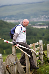 John on the walk..The John Hartson Foudation walk up Ben Nevis..Pic ©2010 Michael Schofield. All Rights Reserved.