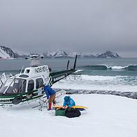 Helisurf Alaska in winter