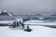Accessing the rugged and wild coastlines of Alaska is challenging. Helicopters make it easier.