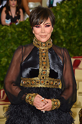 Kris Jenner attending the Costume Institute Benefit at The Metropolitan Museum of Art celebrating the opening of Heavenly Bodies: Fashion and the Catholic Imagination. The Metropolitan Museum of Art, New York City, New York, May 7, 2018. Photo by Lionel Hahn/ABACAPRESS.COM