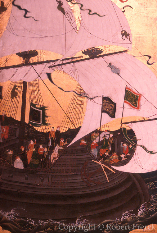 PORTUGAL, LISBON, MUSEUM 'Biombos Namban' trade with Japan