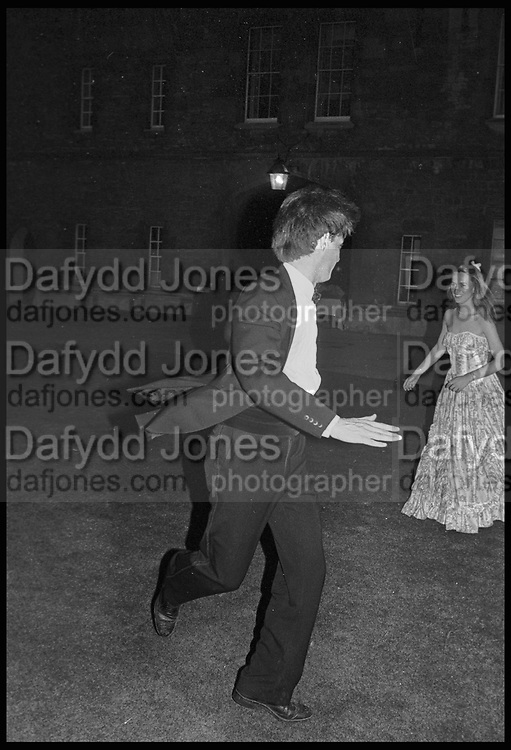 GILES FRASER; SALLY ANNE HODDELL, New College May Ball, Oxford. 14 June 1983.<br /> <br /> SUPPLIED FOR ONE-TIME USE ONLY> DO NOT ARCHIVE. © Copyright Photograph by Dafydd Jones 248 Clapham Rd.  London SW90PZ Tel 020 7820 0771 www.dafjones.com