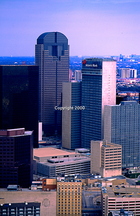 Aerial Photograph of Downtown Dallas Texas