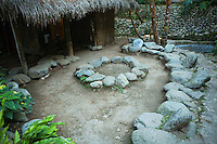 Dap Ay is a kind of Filipino fireside ritual popular in mountainous regions in the Cordilleras.  People gather round the fire, a circular stone structure, and shoot the breeze till the chill is off.