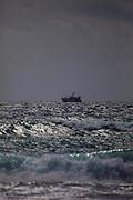 Fishing trawler, Teresa Mae, seen from Coumeenoole Beach, Slea Head, Dingle Peninsula, Kerry, Ireland