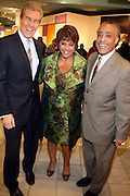27 January 2011-New York , NY- l to r: Terry Lungreen, Linda Johnson Rice and Rev. Al Sharpton at ' For the Love of Color ' celebrating the vision of Eunice Johnson and the Ebony Fashion, Fair Cosemetics sponsored by Macy's and held at Macy's Herald Square on January 27, 2011 in New York City.  Photo Credit: Terrence Jennings