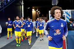 May 15, 2019 - Foxborough, MA, U.S. - FOXBOROUGH, MA - MAY 15: Chelsea FC defender David Luiz (30) leads his teammates onto the field for warm up before the Final Whistle on Hate match between the New England Revolution and Chelsea Football Club on May 15, 2019, at Gillette Stadium in Foxborough, Massachusetts. (Photo by Fred Kfoury III/Icon Sportswire) (Credit Image: © Fred Kfoury Iii/Icon SMI via ZUMA Press)