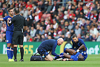 Football - 2019 / 2020 Premier League - Southampton vs. Chelsea<br /> <br /> Tammy Abraham of Chelsea receives some treatment to a knock during the first half at St Mary's Stadium Southampton<br /> <br /> COLORSPORT/SHAUN BOGGUST
