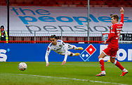 Leeds United forward Helder Costa (17) is offside during the The FA Cup match between Crawley Town and Leeds United at The People's Pension Stadium, Crawley, England on 10 January 2021.