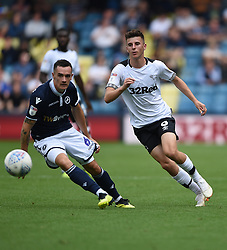 Derby County's Mason Mount and Millwall's Shaun Williams