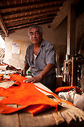 Leather worker, La Noria Village, Near Mazatlan, Sinaloa, Mexico