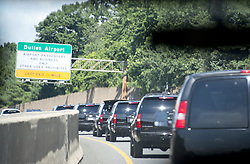 June 24, 2017 - Sterling, Virginia, United States of America - United States President Donald J. Trump's motorcade en route to the Trump National in Sterling, Virginia on Saturday, June 24, 2017..Credit: Ron Sachs / Pool via CNP (Credit Image: © Ron Sachs/CNP via ZUMA Wire)