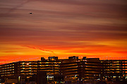 04 DECEMBER 2008 -- PHOENIX, AZ: The sun rises over Sky Harbor Airport in Phoenix, AZ.  PHOTO BY JACK KURTZ