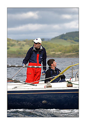 Yachting- Sundays inshore racing  of the Bell Lawrie Scottish series 2003 at Tarbert Loch Fyne. Again light westerly winds and flat water made for tactical racing...Vaila, Duncan Munro helming the BB10 in Class Four....Pics Marc Turner / PFM