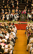 University graduation degree award ceremony, St Andrews Hall, Norwich, England