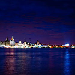 The Liverpool skyline taken from Seacombe