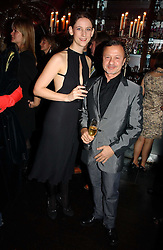 MARIA GRACHVOGEL and JACQUES AZAGURY at a party to celebrate the 10th year of Fashion Targets Breast Cancer UK held at The Cuckoo Club, Swallow Street, London W1 on 30th October 2006.<br />