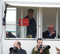 © London News Pictures. 10/05/2012. London, UK. HRH The Duke of Edinburgh watches over the Driving for the Disabled class from the commentators box at the Royal Windsor Horse Show in Windsor, Berkshire, before presenting awards , on May 10, 2012. Photo credit: Ben Cawthra/LNP