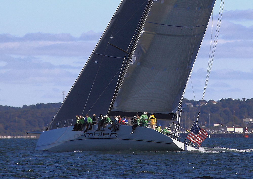 Rambler at the 9th Annual Sail for Hope event in Newport, RI. Boats raced in the annual Sail for Hope 2010 around Narragansett Bay.