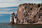 View of Ensenada Grande from the arroyo, Isla Partida, La Paz, BCS, Mexico; Jan 2010