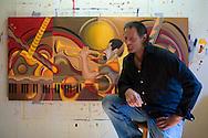 Portrait of Farrell, Pennsylvania-based artist Michael DeBonis.