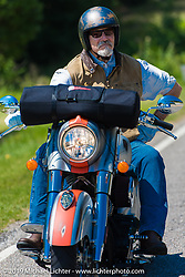 Keith Ball of Bikernet on the ride from Suck, Bang, Blow in Murrells Inlet, SC to Rockingham, NC for the Smokeout 2015. USA. June 18, 2015.  Photography ©2015 Michael Lichter.