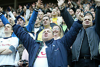 Photo: Andrew Unwin.<br /> Sunderland v Tottenham Hotspur. The Barclays Premiership. 12/02/2006.<br /> Tottenham fans cheer on their team.
