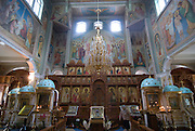 Inside shot of the Zenkov cathedral, Almaty, Kazakhstan