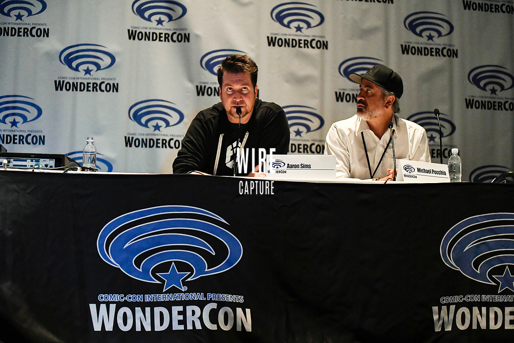 Aaron Sims and Michael Pecchia at Wondercon in Anaheim Ca. March 31, 2019