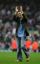 LIVERPOOL, ENGLAND - SUNDAY MARCH 27th 2005: Liverpool Legends' Paul Walsh applauds the fans after beating the Celebrity XI during the Tsunami Soccer Aid match at Anfield. (Pic by David Rawcliffe/Propaganda)