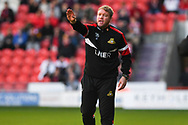 Grant McCann of Doncaster Rovers (Manager) during the EFL Sky Bet League 1 match between Doncaster Rovers and Gillingham at the Keepmoat Stadium, Doncaster, England on 20 October 2018.