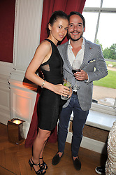 RUPERT & ANNA KNAUF at a party to celebrate Tamara Ecclestone's 28th birthday held in Tyringham, Newport Pagnell, Bucks on15th June 2012.