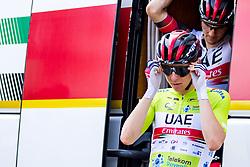 Tadej POGACAR of UAE TEAM EMIRATES and Jan POLANC of UAE TEAM EMIRATES during 3rd Stage of 27th Tour of Slovenia 2021 cycling race between Brezice and Krsko (165,8 km), on June 11, 2021 in Slovenia. Photo by Matic Klansek Velej / Sportida
