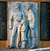 Monument on Olkon Island, Lake Baikal, Siberia, Russia