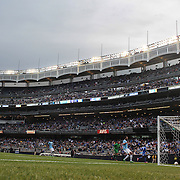 Ramires, (right), Chelsea, scores the first of his two goals,  during the Manchester City V Chelsea friendly exhibition match at Yankee Stadium, The Bronx, New York. Manchester City won the match 5-3. New York. USA. 25th May 2012. Photo Tim Clayton