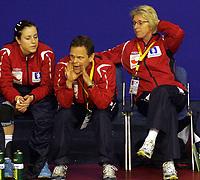 03.12.2008 Ohrid (FYR Macedonia)<br />Norway-Spain European women's handball championship<br /> Marit Breivik(R) Norway head coach during the  match <br />Foto:Aleksandar Djorovic