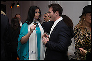 JASMIN DURAN; NICK MORAN, White By Agadir -  launch party <br /> to promote the Moroccan resort of Agadir , Il Bottaccio, 9 Grosvenor Place, London, 4 November 2014