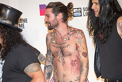 Simon Neil backstage at the winners room MTV EMA, Glasgow.