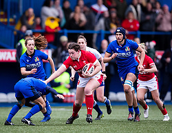 Cerys Hale of Wales<br /> <br /> Photographer Simon King/Replay Images<br /> <br /> Six Nations Round 1 - Wales Women v Italy Women - Saturday 2nd February 2020 - Cardiff Arms Park - Cardiff<br /> <br /> World Copyright © Replay Images . All rights reserved. info@replayimages.co.uk - http://replayimages.co.uk